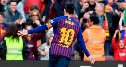 Liga: Messi regala il derby al Barcellona, l'Atletico Madrid risponde e affossa l'Alaves
