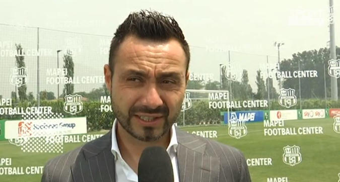"""Sassuolo, De Zerbi: """"Champions? Magari, ora miglioriamo in Serie A"""""""