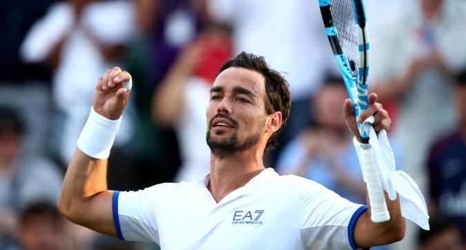 Tennis, Wimbledon: Fognini soffre ma passa al terzo turno, Berrettini a valanga contro Baghdatis