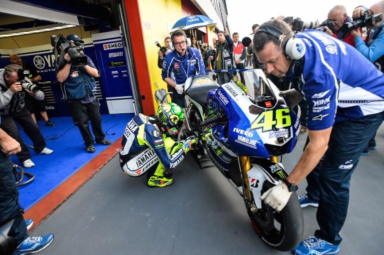 Rossi, nuovo grafica del casco al Mugello