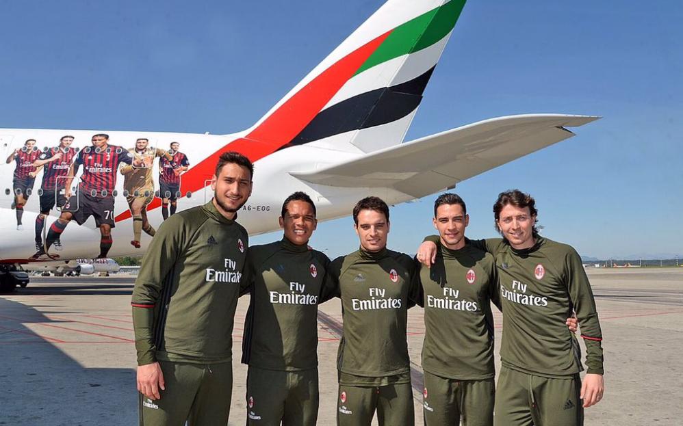 Emirates, un A380 dedicato al Milan