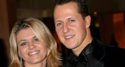 Corinna e Micheal Schumacher, foto Afp
