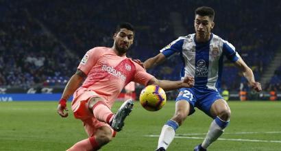 Liga: Messi show, poker Barcellona nel derby e fuga