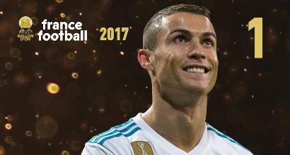Cristiano Ronaldo vince il quinto Pallone d'Oro: raggiunto Messi