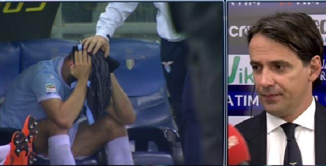 Lazio, De Vrij in lacrime per il rigore procurato