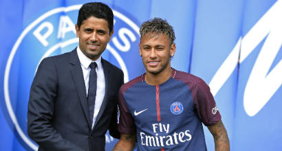 """Psg, Al-Khelaifi blinda Neymar: """"Non è in vendita, il Real Madrid lo sa"""""""