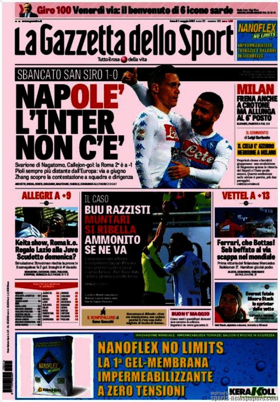 I giornali: 1 maggio