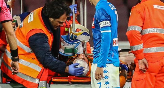 Napoli-Udinese, paura per Ospina: trasportato in ospedale