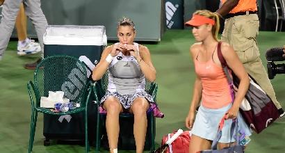 Pennetta e Sharapova, foto Afp