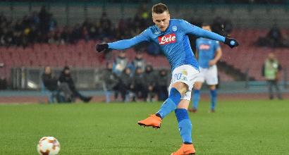 """Napoli, Zielinski: """"Vogliamo lo scudetto, vincere qui non è una cosa normale"""""""