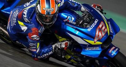 MotoGP, test Losail: davanti a tutti c'è Rins, la Ducati tiene botta. Valentino Rossi indietro