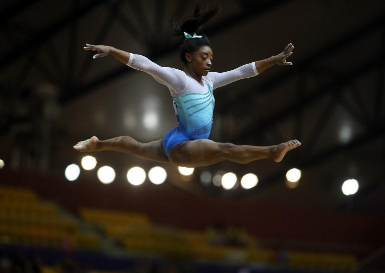 Simone Biles durante i campionati FIG di ginnastica artistica (1 novembre)