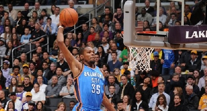 Kevin Durant contro i Lakers (Afp)