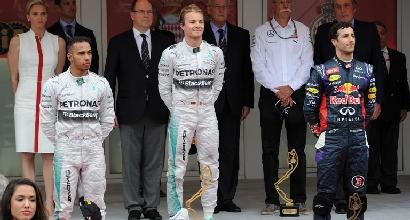 Il podio di Monaco (Afp)