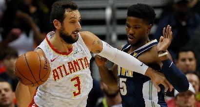 Basket, Nba: Cleveland e Golden State al tappeto, anche Belinelli ko