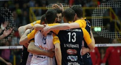 Volley, quarti di finale Scudetto: Verona trascina Trentino a gara 3