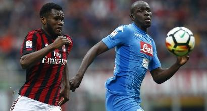 Serie A:Koulibaly squalificato per una giornata
