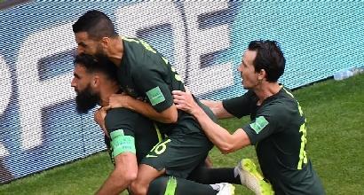 Mondiali 2018, Danimarca-Australia 1-1