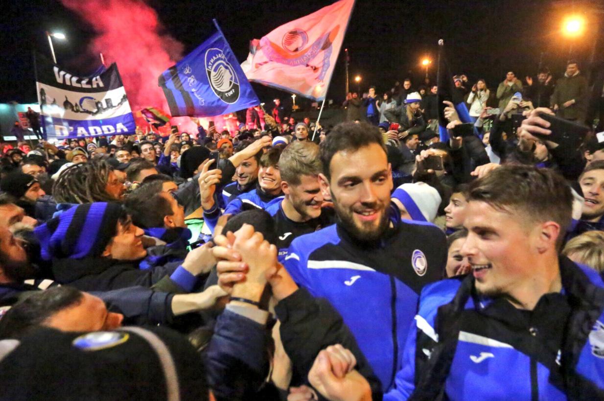 Coppa Italia, Atalanta in semifinale: delirio a Bergamo
