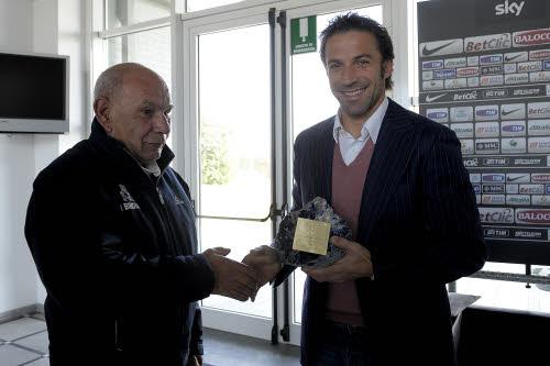 Del Piero riceve il premio