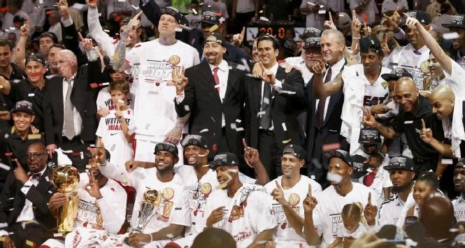 La festa dei Miami Heat, foto Reuters