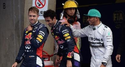 Ricciardo, Hamilton, Vettel (AFP)