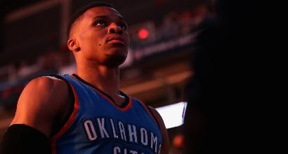 Westbrook nella storia, tripla doppia con il 100% al tiro