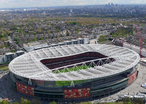 L'Emirates Stadium di Londra (casa dell'Arsenal)