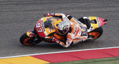 """MotoGP ad Aragon, Rossi: """"Contento, riesco a guidare forte"""""""