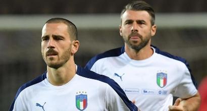 Barzagli e Bonucci, foto Lapresse