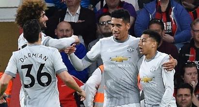 Riscatto Manchester United: battuto il Bournemouth