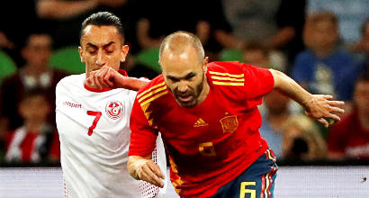 Amichevoli: Aspas-gol, la Spagna va