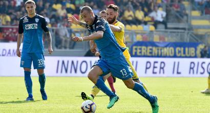 SERIE A, Quanti gol a pranzo: Frosinone-Empoli 3-3