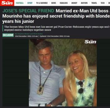 Mourinho e una bionda di troppo: amante o fake news?