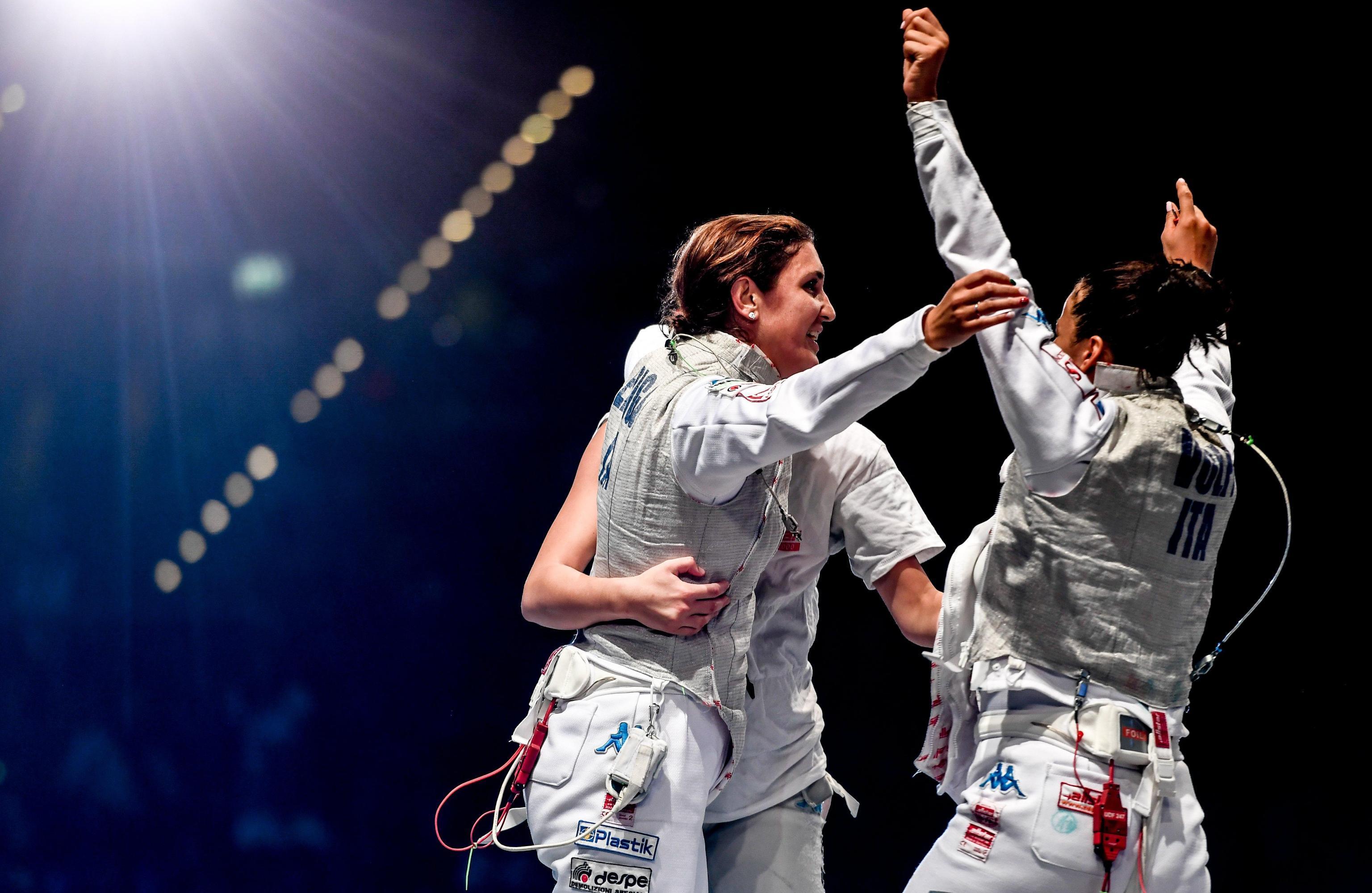 Scherma, oro e bronzo per l'Italia