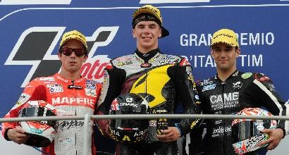 Il podio della Moto2 (Ansa)
