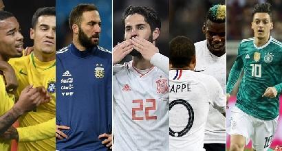 Verso Russia 2018: Brasile e Spagna col passo delle favorite, Argentina piena di problemi