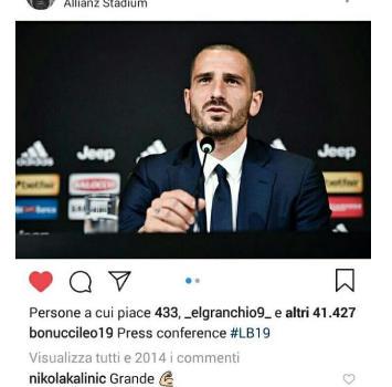 """Grande Bonucci"": Kalinic fa infuriare i tifosi del Milan"