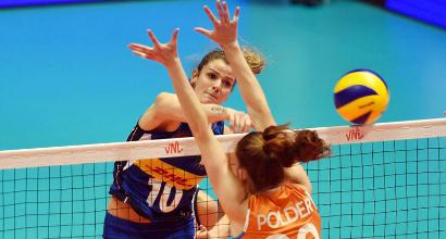 Nations League Volley, Italia sul velluto: 3-1 all'Olanda