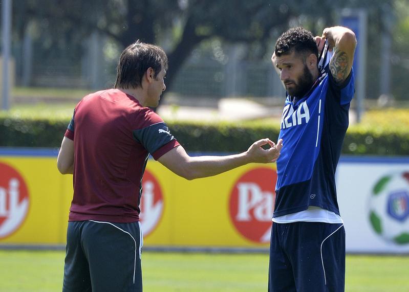 Italia, allenamento al completo