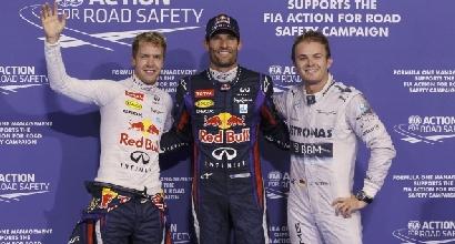 Vettel, Webber e Rosberg (Reuters)