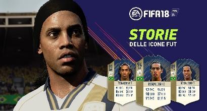 FIFA 2018, Anche Ronaldinho tra le Icone