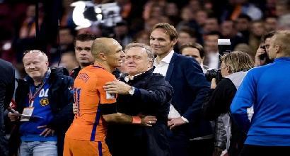 Olanda: Robben dà l'addio alla Nazionale dopo 96 presenze e 37 gol