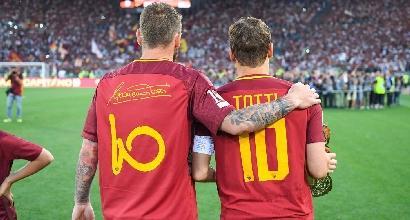 """Totti perdona De Rossi: """"Mai mettere in discussione quello che ha fatto per la Roma"""""""