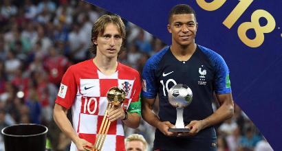 Mondiali 2018: Modric miglior giocatore del torneo, Mbappé miglior giovane