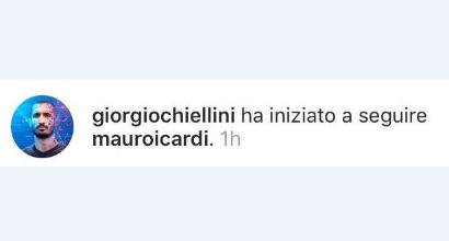 Icardi-Juventus, indizio social? Chiellini lo segue su Instagram