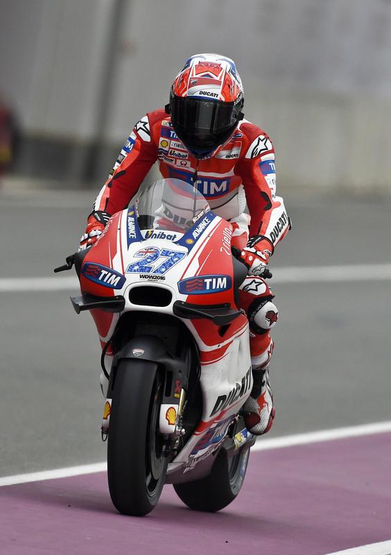 MotoGP, Stoner prova la Ducati in Qatar