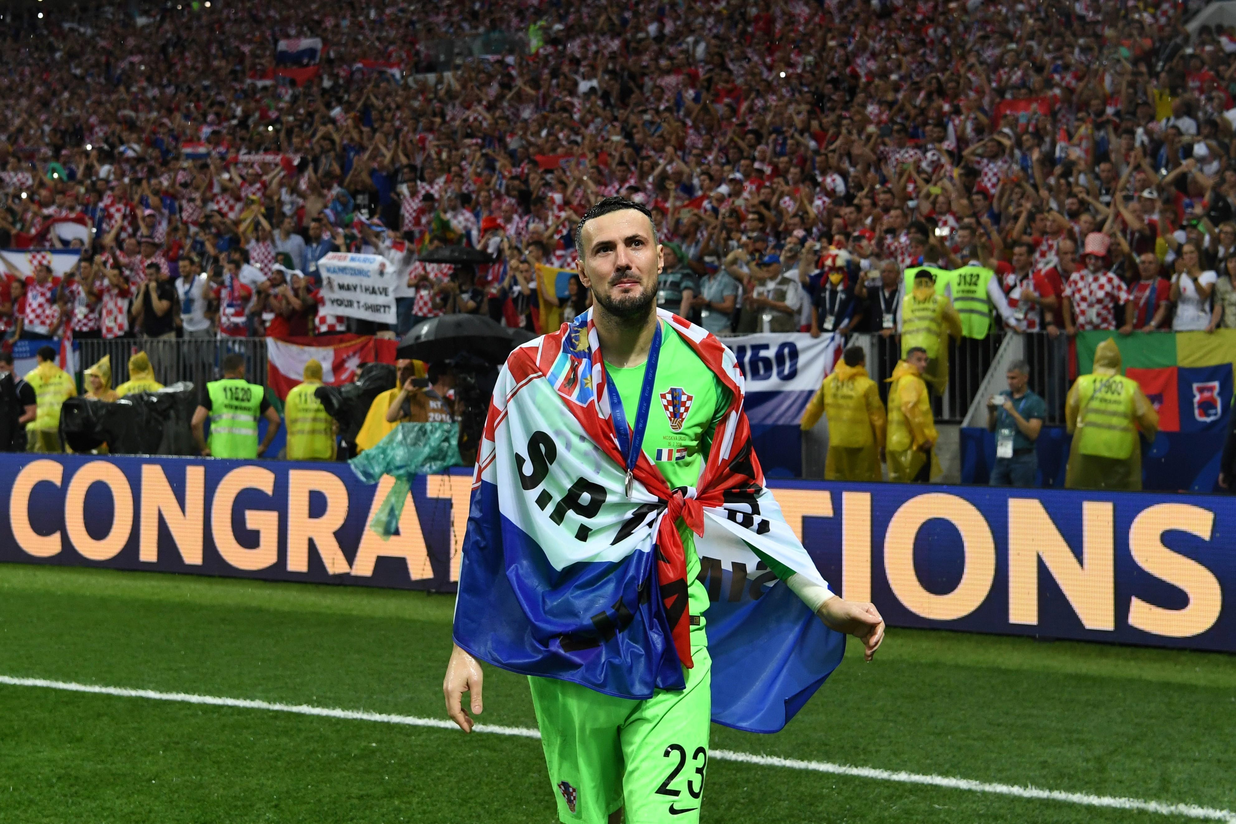 Come Mandzukic anche l'estremo difensore Subasic saluta la Croazia dopo essersi piazzato al secondo gradino nella rassegna Mondiale.