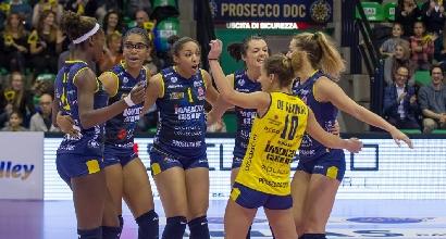 Volley, A1 femminile: Conegliano vola in testa, cade Novara