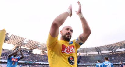 """Napoli, Reina: """"Voglio chiudere qui la carriera"""""""